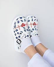 Обувь сабо на платформе с принтом LIFE, фото 2