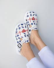 Обувь сабо на платформе с принтом LIFE, фото 3