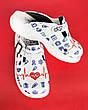 Обувь сабо на платформе с принтом LIFE, фото 5