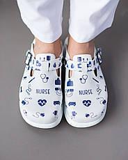 Обувь сабо на платформе с принтом NURSE, фото 3