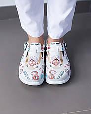 Обувь сабо на платформе с принтом BEAUTY AESTHETIC, фото 2