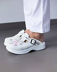 Обувь сабо на платформе с принтом TEETH SMILE, фото 2