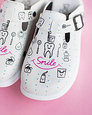 Обувь сабо на платформе с принтом TEETH SMILE, фото 3