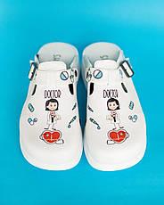 Обувь сабо на платформе с принтом DOCTOR WOMAN, фото 2