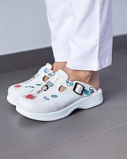 Обувь сабо на платформе с принтом DOCTOR WOMAN, фото 3