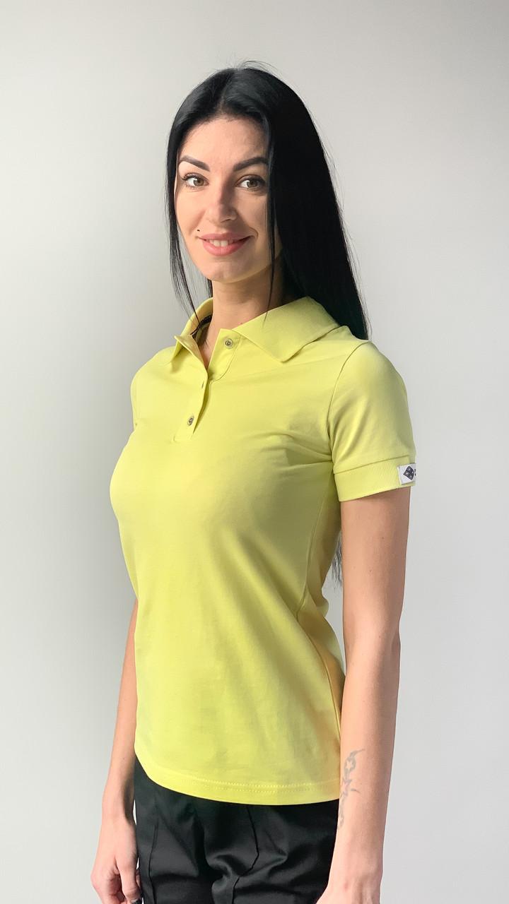 Медицинское поло женское желтый