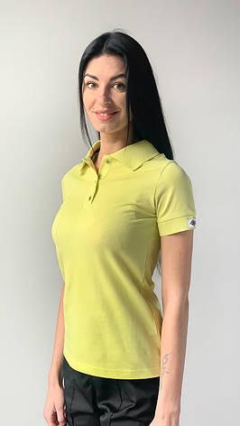 Медицинское поло женское желтый, фото 2