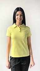 Медичне поло жіноча жовтий, фото 2