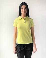 Медичне поло жіноча жовтий, фото 3