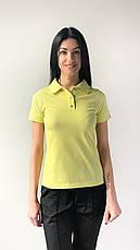 Медицинское поло женское желтый, фото 3