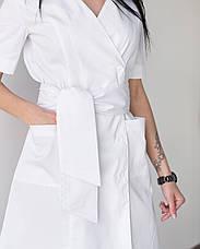 Медицинский женский халат Токио белый на пуговицах, фото 2