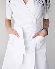 Медицинский женский халат Токио белый на пуговицах, фото 3