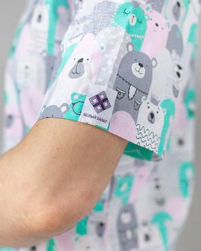 Медицинский мужской костюм Гранит принт мишки серые 46, 48, 50, 54, фото 2