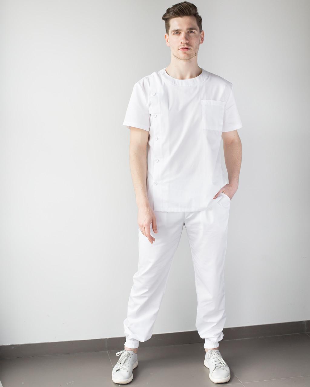 Медицинский мужской костюм Техас белый