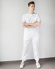 Медицинский мужской костюм Техас белый, фото 2