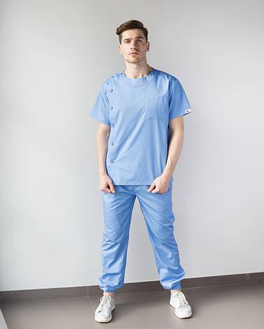 Медицинский мужской костюм Техас голубой, фото 2