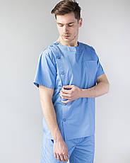 Медицинский мужской костюм Техас голубой, фото 3