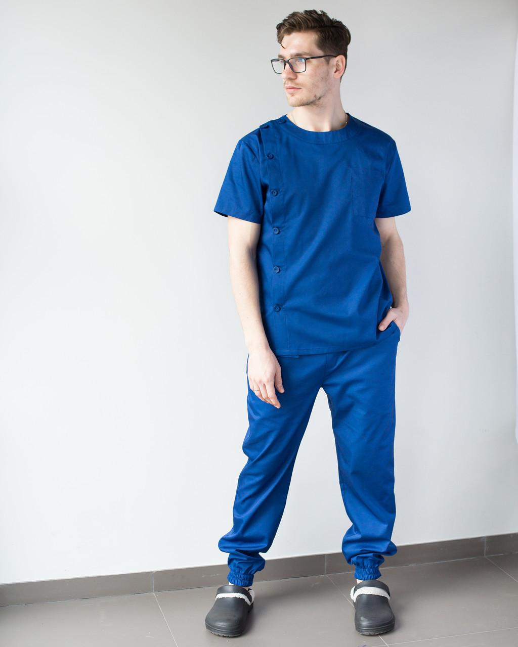 Медицинский мужской костюм Техас синий