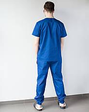 Медицинский мужской костюм Техас синий, фото 2