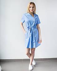 Медицинская Туника Наоми голубая, фото 3