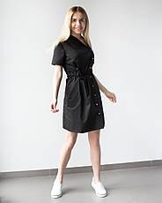 Медицинская Туника Наоми черная, фото 2