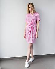 Медицинская Туника Наоми розовая, фото 2