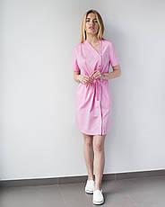 Медицинская Туника Наоми розовая, фото 3
