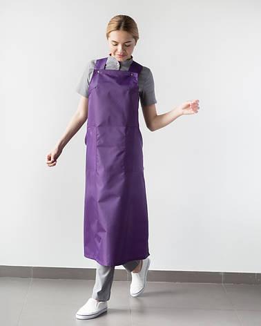 Фартук для мастеров сферы услуг, фиолетовый, фото 2