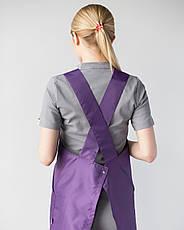 Фартук для мастеров сферы услуг, фиолетовый, фото 3