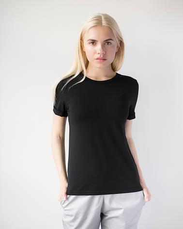 Женская футболка Модерн черный, фото 2