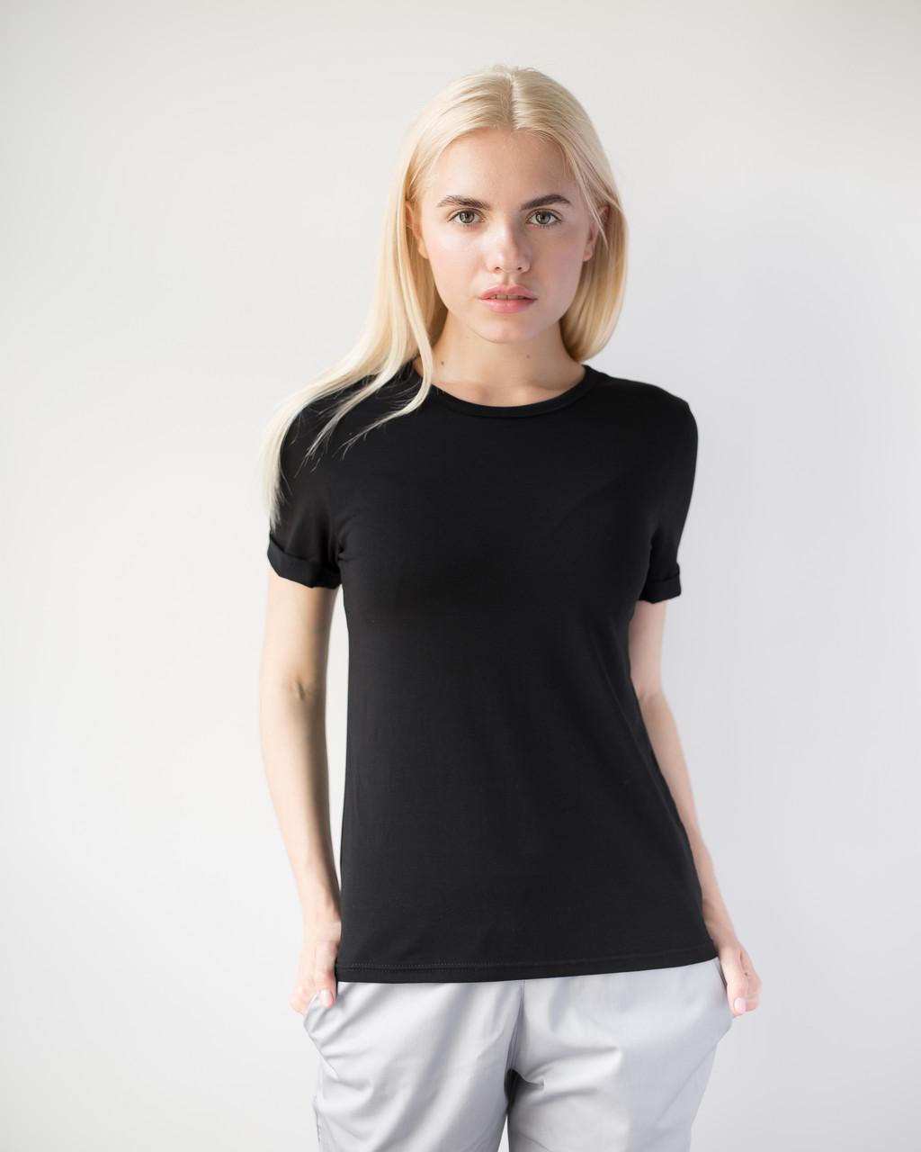 Женская футболка Модерн черный