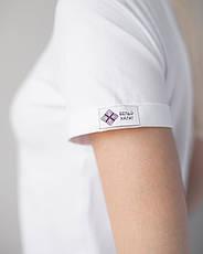 Женская футболка Модерн, белый принт Beauty (кисть), фото 2