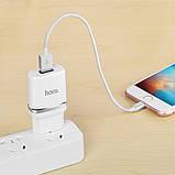 Мережевий зарядний пристрій Hoco C11 + Micro USB Cable (1USB 1А) White, фото 4
