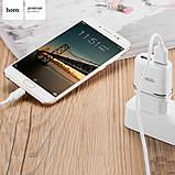 Мережевий зарядний пристрій Hoco C11 + Micro USB Cable (1USB 1А) White, фото 5