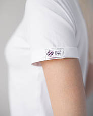 Женская футболка Модерн, белый принт Nail artist, фото 2