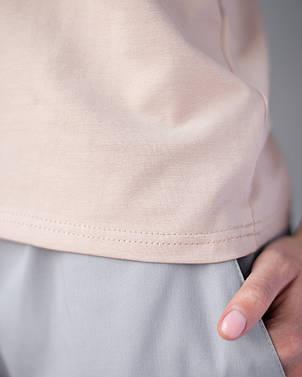 Женская футболка Модерн, беж принт Love Piece…, фото 2