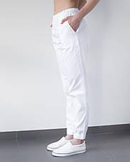 Медицинские женские джоггеры белые, фото 3