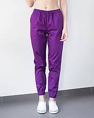 Медицинские женские джоггеры фиолетовые, фото 3
