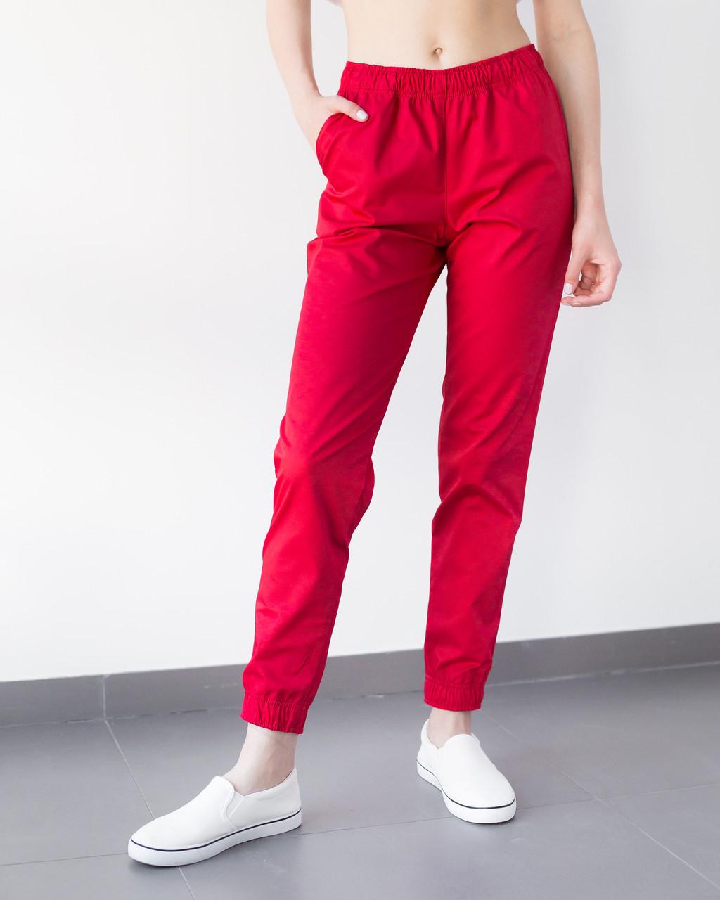 Медицинские женские джоггеры красные