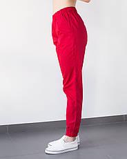 Медицинские женские джоггеры красные, фото 2