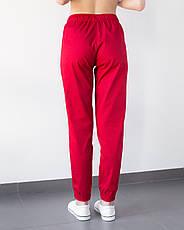 Медицинские женские джоггеры красные, фото 3