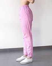 Медицинские женские джоггеры розовые, фото 3