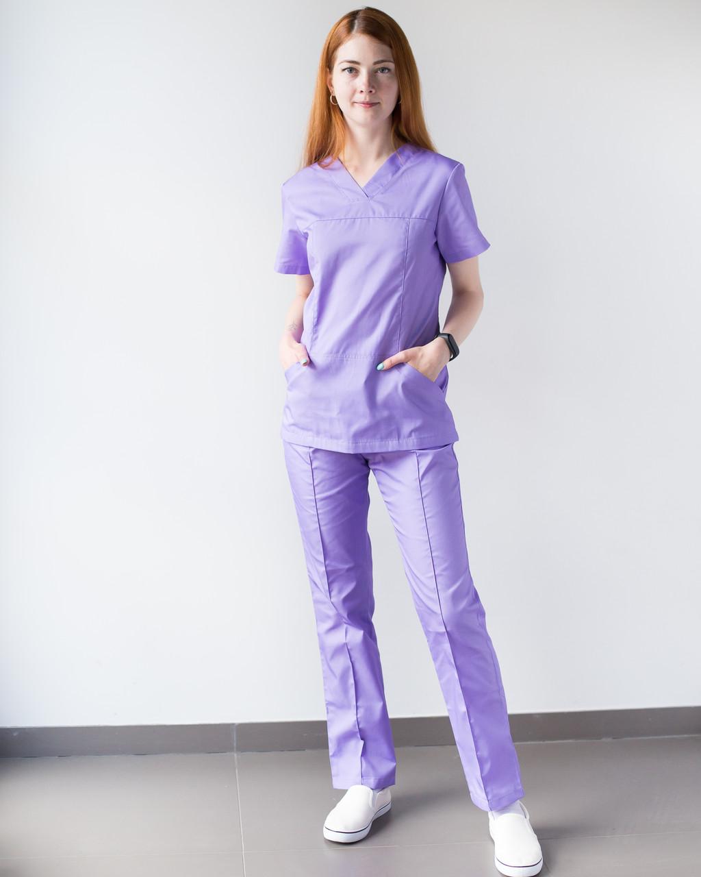 Медицинский женский костюм Топаз лаванда