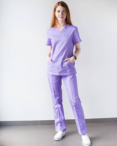 Медицинский женский костюм Топаз лаванда, фото 2