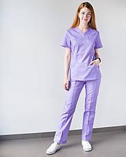 Медицинский женский костюм Топаз лаванда, фото 3
