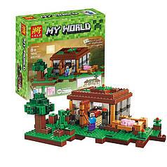 Конструктор Minecraft Первая ночь Майнкрафт My World Bela 10176, 408 детале