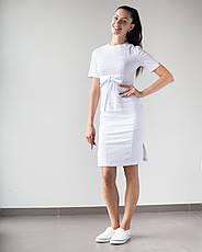 Медицинское платье Скарлетт белый, фото 3