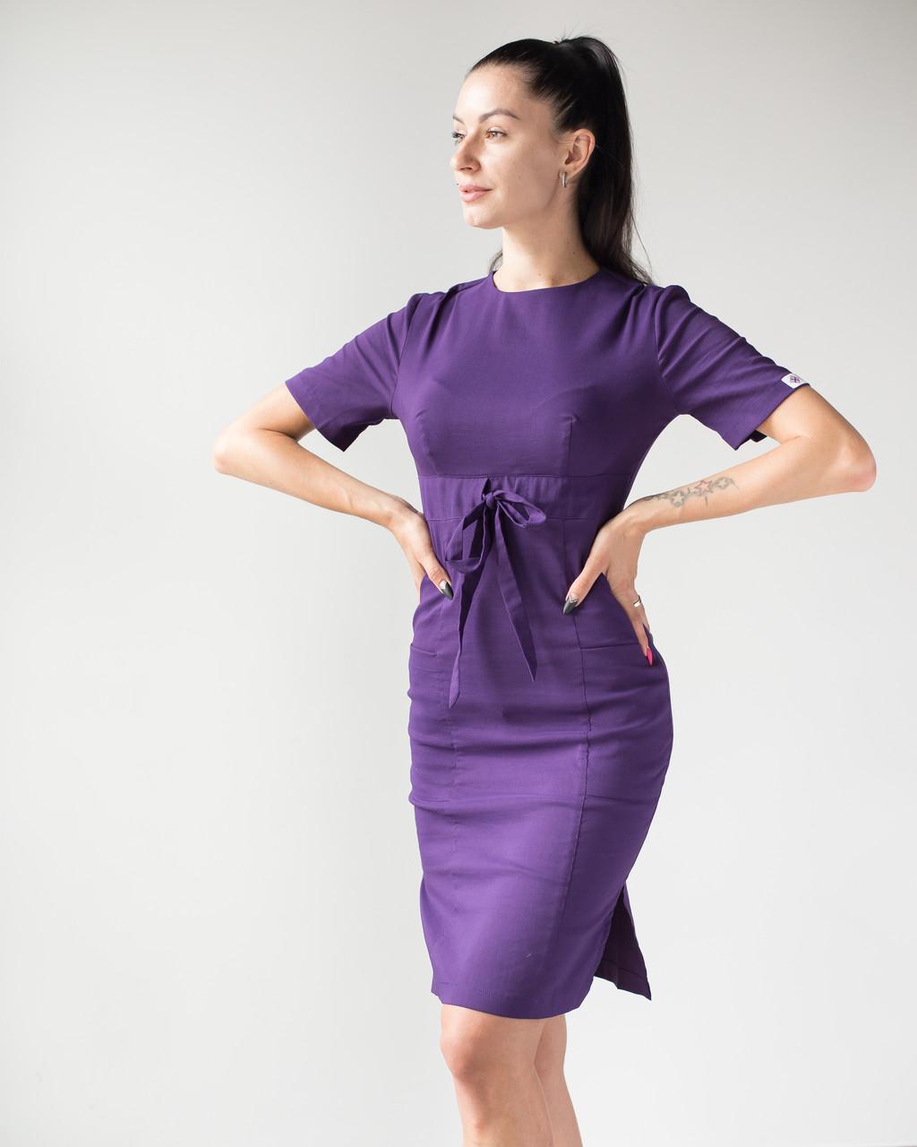 Медицинское платье Скарлетт фиолетовый