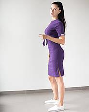 Медицинское платье Скарлетт фиолетовый, фото 2