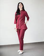 Медицинский женский костюм Мишель (марсала), фото 3